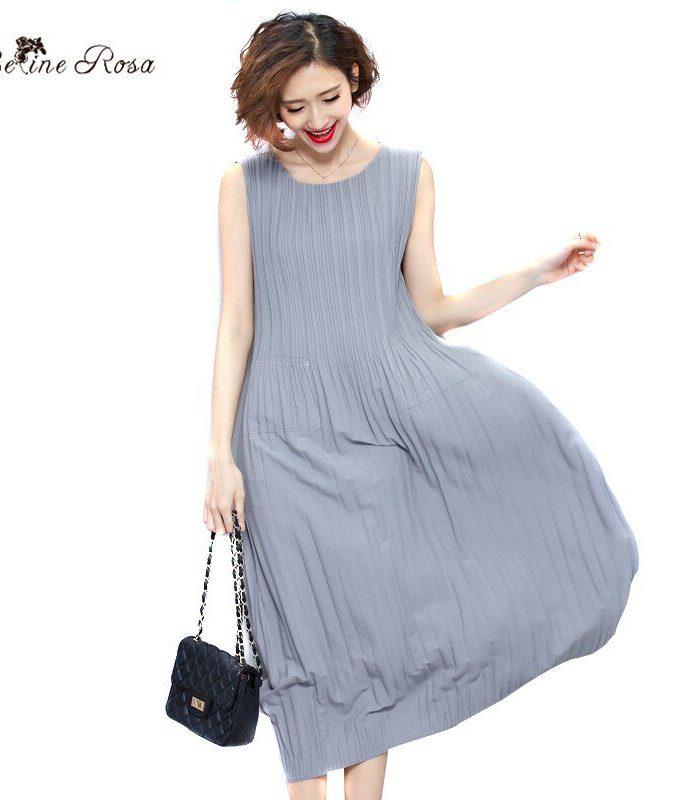 BelineRosa Women's Summer Dresses Pure Color Casual