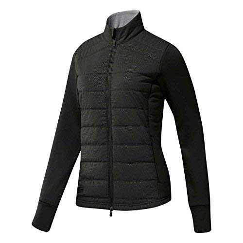 adidas Golf Women's Quilted Jacket Black/Core Heather Medium