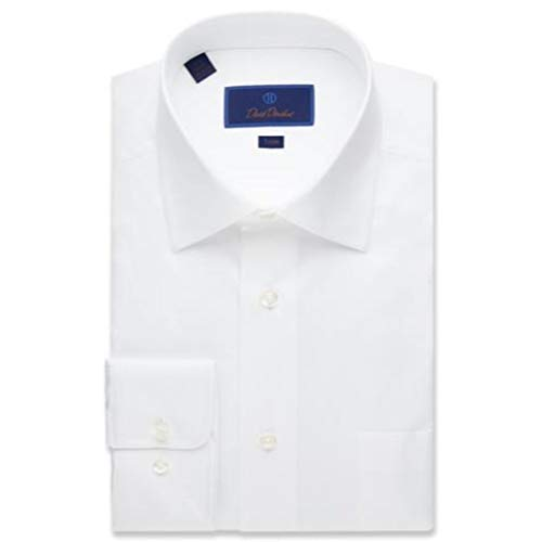 David Donahue Men's Twill Trim Fit Dress Shirt