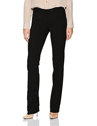 NYDJ Women's Ponte Trouser Pant, Black, 8