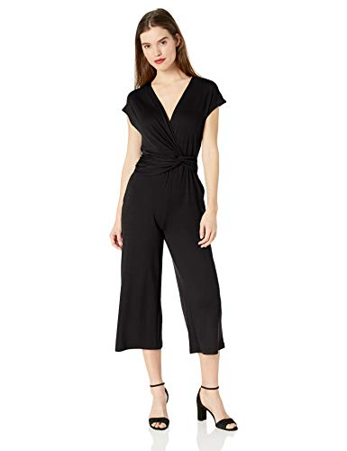 Ella Moss Women's Addison Twist Drape Jumpsuit Black Small