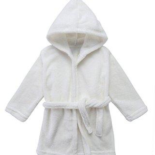Toddler Unisex Baby Robe Hooded Fleece Bathrobe and Towel for Kids