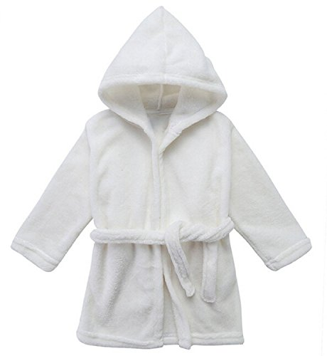 Toddler Unisex Baby Robe Hooded Fleece Bathrobe and Towel for Kids