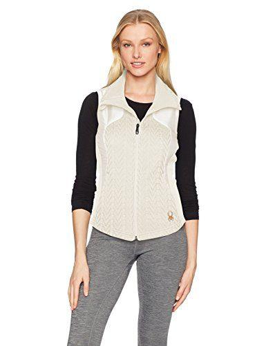 Spyder Women's Lolo Mid Wt Stryke Vest, Marshmallow, Medium