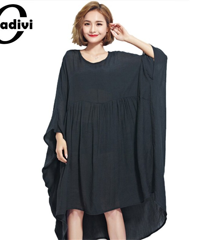 Oladivi Oversized Dress for Women Chiffon Shirts Plus Size