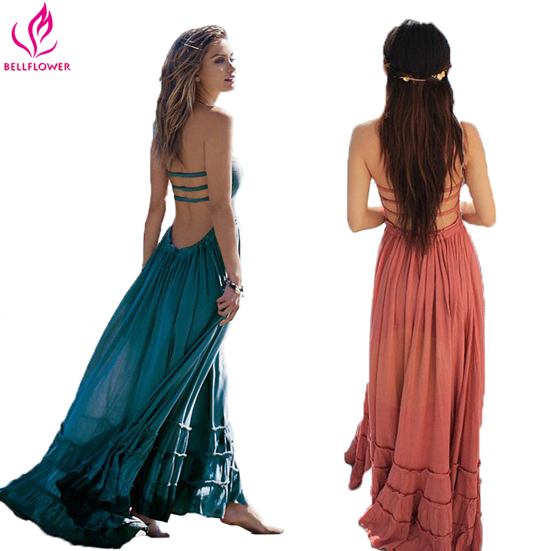 BellFlower Summer Dress Women Bohemian Sleeveless