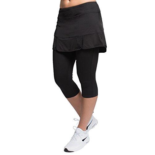 Alex + Abby Women's Plus-Size Endurance Skirted Capri Legging