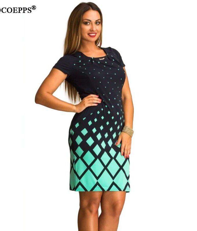 Large Size Summer dress fashion women big sizes women