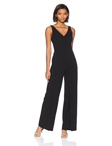Adrianna Papell Women's Sleeveless Knit Crepe Wide Leg Jumpsuit