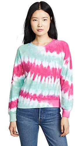 Wildfox Women's Fiona Crew Sweatshirt, Retro Tie Dye
