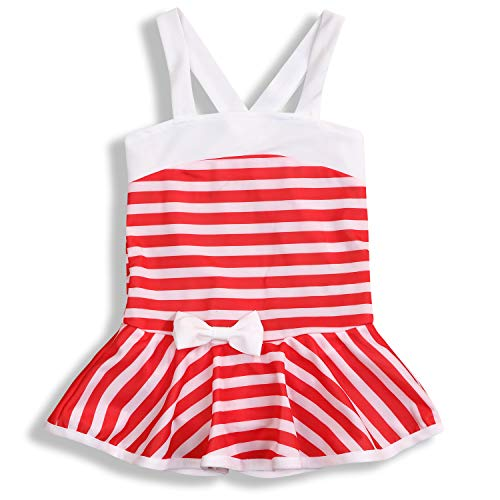 Infant Toddler Baby Girl's Swimsuits Stripe Dress One Piece