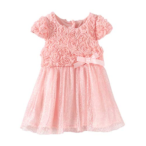 LittleSpring Baby Girls' Party Dresses Flowers Lace Wedding Dress