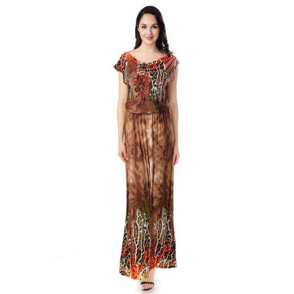 Women Summer Beach Dress Bohemian Plus