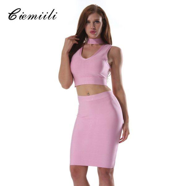 CIEMIILI Sexy Women Summer Dress Club Wear Dress