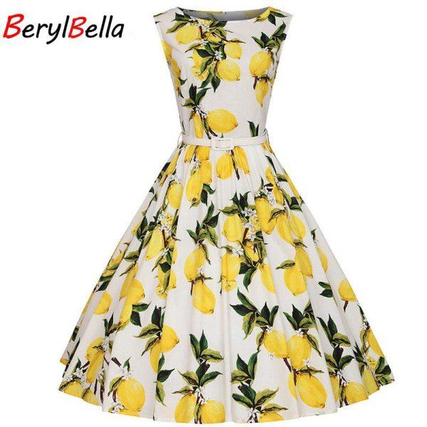 BerylBella Summer Women Dresses 18 Casual Office Beach