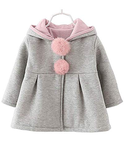 Baby Girls Toddler Kids Winter Big Ears Hoodie Jackets Outerwear Coats