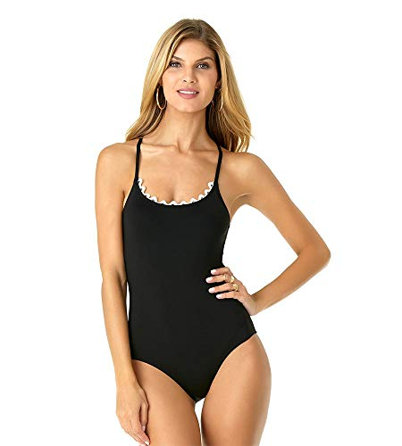 Anne Cole Women's Lace up Lingerie Maillot One Piece Swimsuit