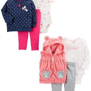 Carter's Baby Girls' 6-Piece Jacket and Vest Set
