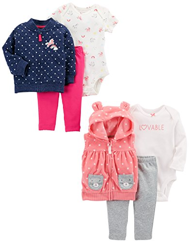 Carter's Baby Girls' 6-Piece Jacket and Vest Set
