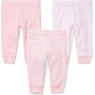 Moon and Back Baby Set of 3 Organic Pants, Pink Blush, Preemie