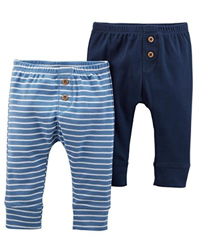 Carter's Baby Boys 2-Pack Babysoft Cotton Pants Blue (Newborn)