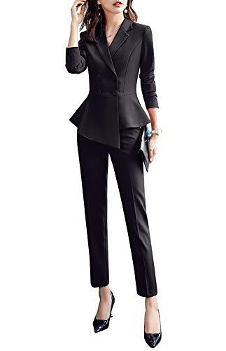 Women's 2 Pieces Office Blazer Suit Slim Fit Work Suits