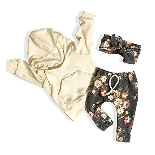 Baby Girl Clothes Long Sleeve Hoodie Sweatshirt Floral Pants