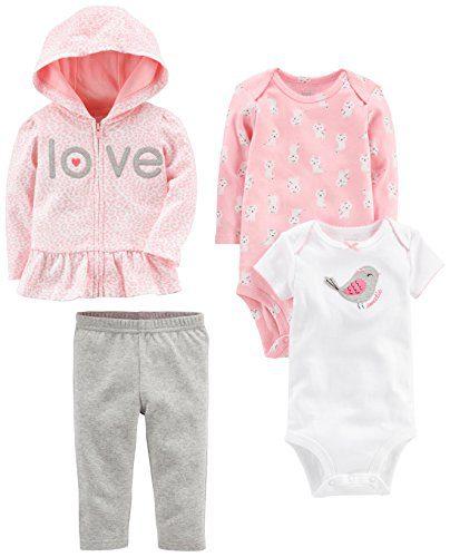 Simple Joys by Carter's Baby Girls' 4-Piece Little Jacket Set