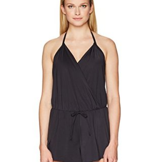 Kenneth Cole REACTION Women's V-Neck Romper Dress Swimsuit