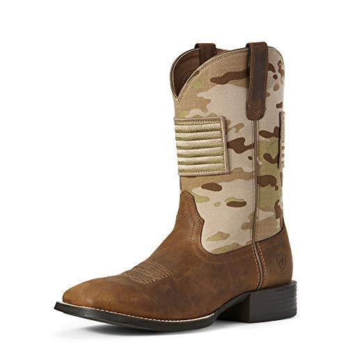 ARIAT Men's Sport Patriot Western Boot Distressed Brown