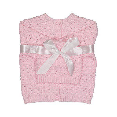 Baby Dove Newborn Popcorn Knit Cardigan & Beanie Gift Set