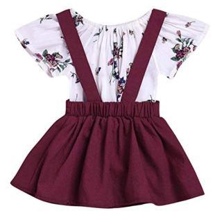 LOliSWan 2Pcs Infant Toddler Baby Girls Summer Boho Floral