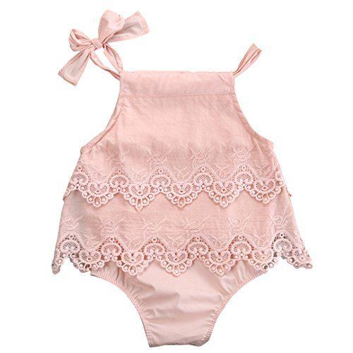 Newborn Baby Girl Infant Romper Jumpsuit Bodysuit Tutu Lace Dress