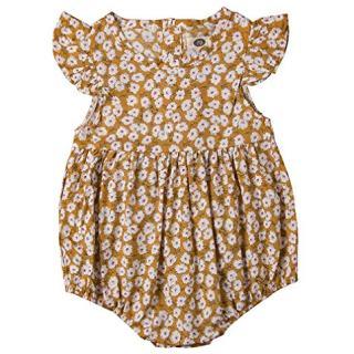 Newborn Baby Boy Girl Romper Floral Print Vintage