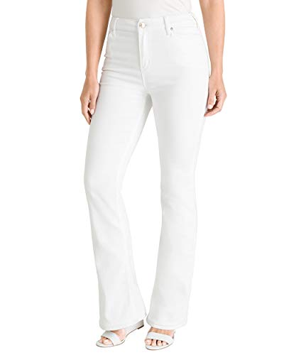 Chico's Women's Barely Bootcut No-Stain White Jeans
