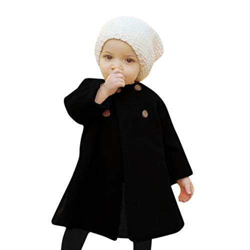 KaiCran Toddler Baby Girls Cute Fall Winter Button Cardigan Jacket