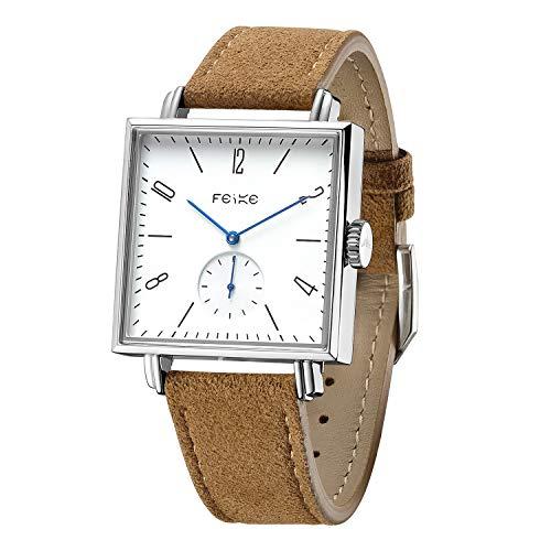 FEICE Bauhaus Watch Men's Automatic Watch Minimalist Square