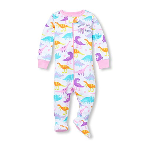 The Children's Place Baby Girls Novelty Printed One Piece Long Sleeve