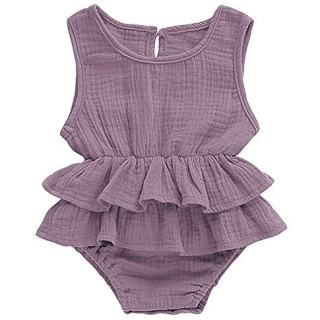 GGBOND Infant Baby Girl Sleeveless Romper Jumpsuit Cotton