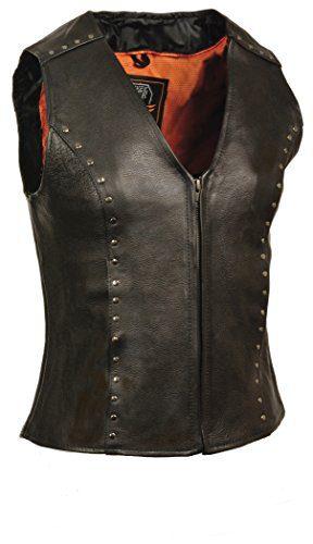 Milwaukee Women's Zipper Front Leather Vest