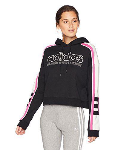 adidas Women's Racing Cropped Hooded Sweatshirt