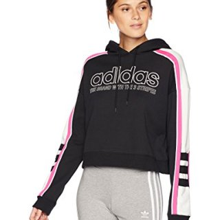 adidas Women's Racing Cropped Hooded Sweatshirt