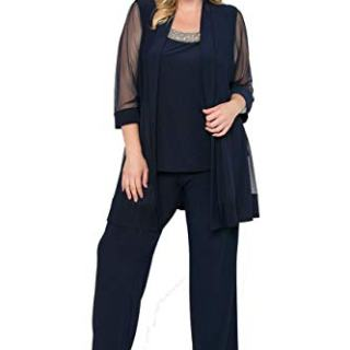 R&M Richards Long Formal Pants Suit Plus Size Dress