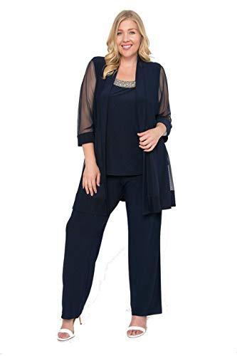 R&M Richards Long Formal Pants Suit Plus Size Dress