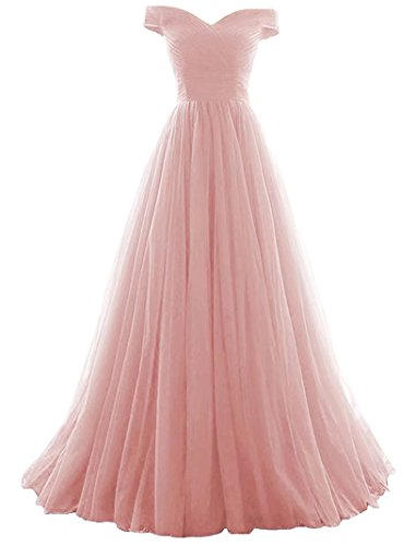 Vickyben Women's A-Line Tulle Prom Formal Evening Homecoming Dress