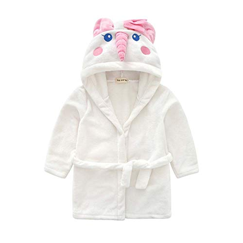 Jarsh Baby Boy Girl Kid Bathrobe Cartoon Animals Hooded Towel Pajama