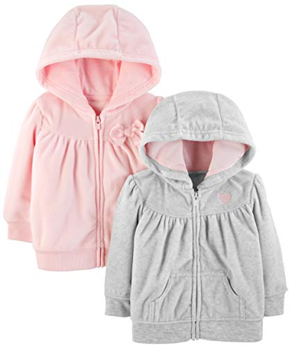 Simple Joys by Carter's Girls' 2-Pack Fleece Full Zip Hoodies
