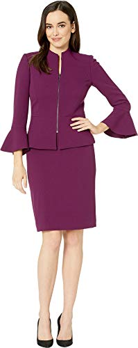 Tahari by ASL Women's Skirt Suit with Collarless Jacket