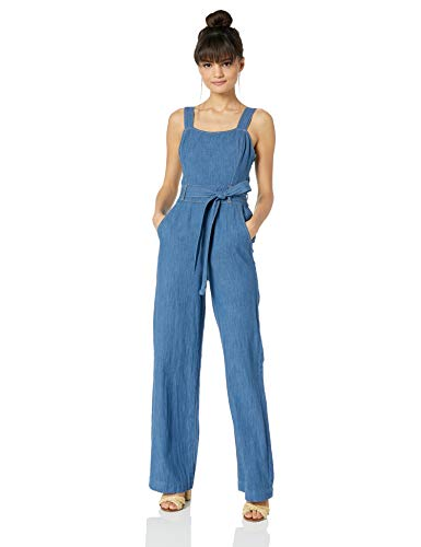 Ella Moss Women's Denim Belted Jumpsuit