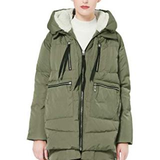Orolay Women's Thickened Down Jacket Green Xs